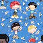 Niños Avioncitos (patrón azul)