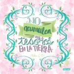 Mateo 6:19 (rosado)