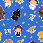 Patrón Star Wars (azul)