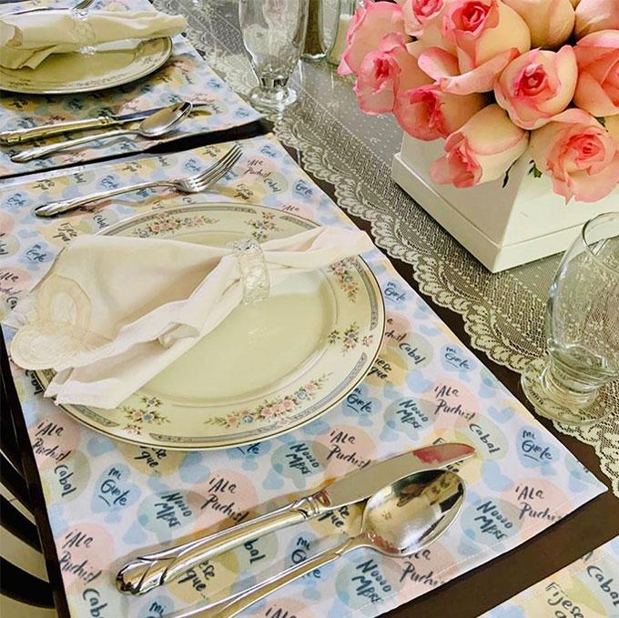Individuales para mesa con diseños por Aixa de López